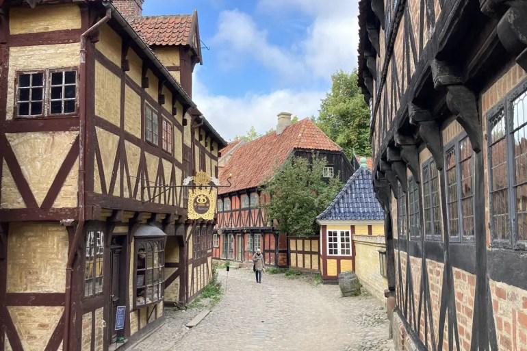 Im Freilichtmuseum Den Gamle By wurden Häuser aus ganz Dänemark wieder aufgebaut