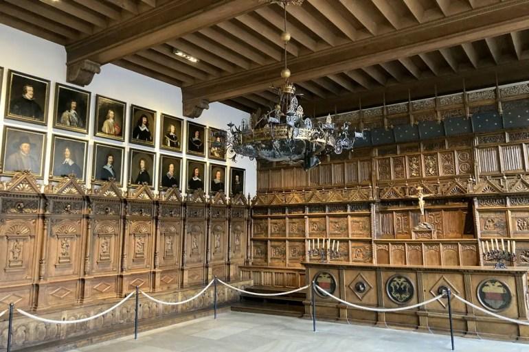 Das Highlight im Rathaus von Münster: der Friedenssaal