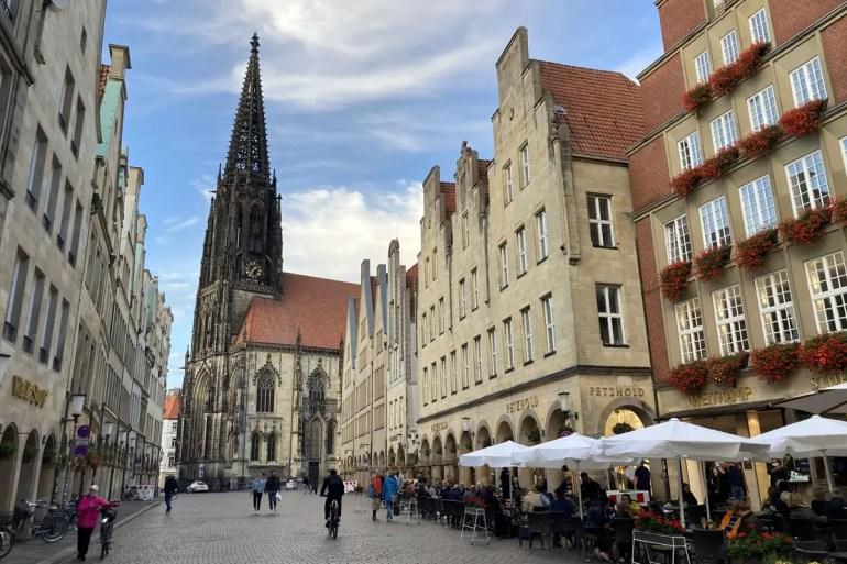 Die Lambertikirche am Prinzipalmarkt ist eine der wichtigsten Sehenswürdigkeiten von Münster
