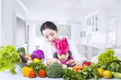 Asian Mother Teach Daughter Cook At Home