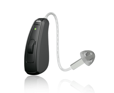 The latest AGXr Q hearing aid, the most advanced receiver-in-canal style hearing aid