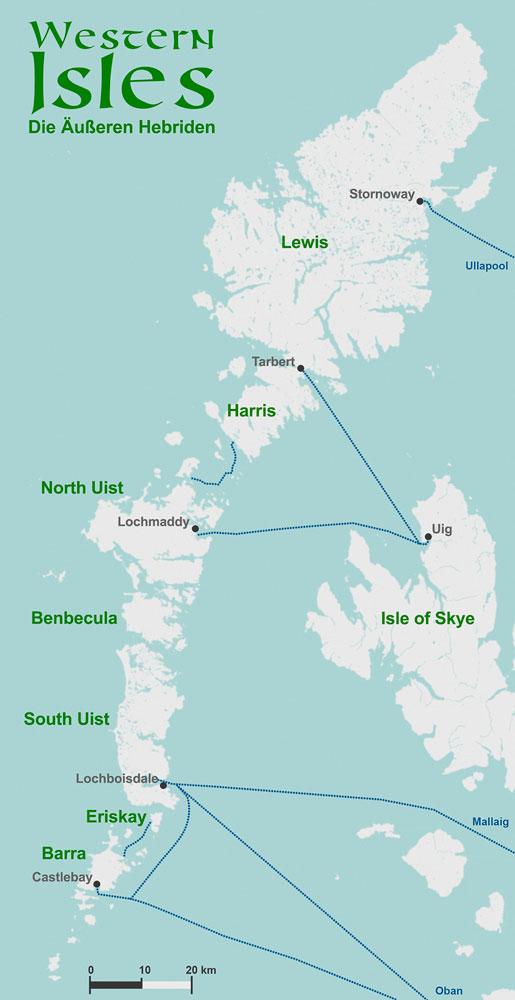 ueren Hebriden Urlaub  Lewis Harris Uist und Barra