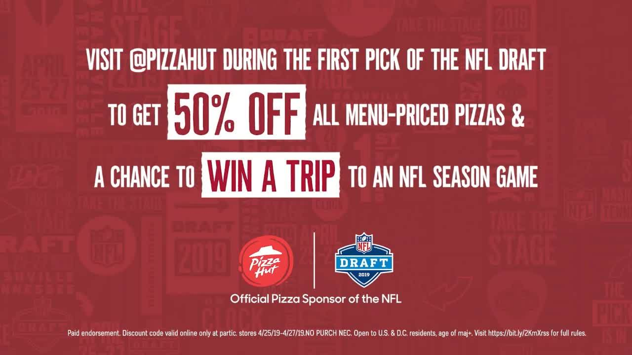 Pizza Hut offering half off menu-priced pizzas for NFL draft