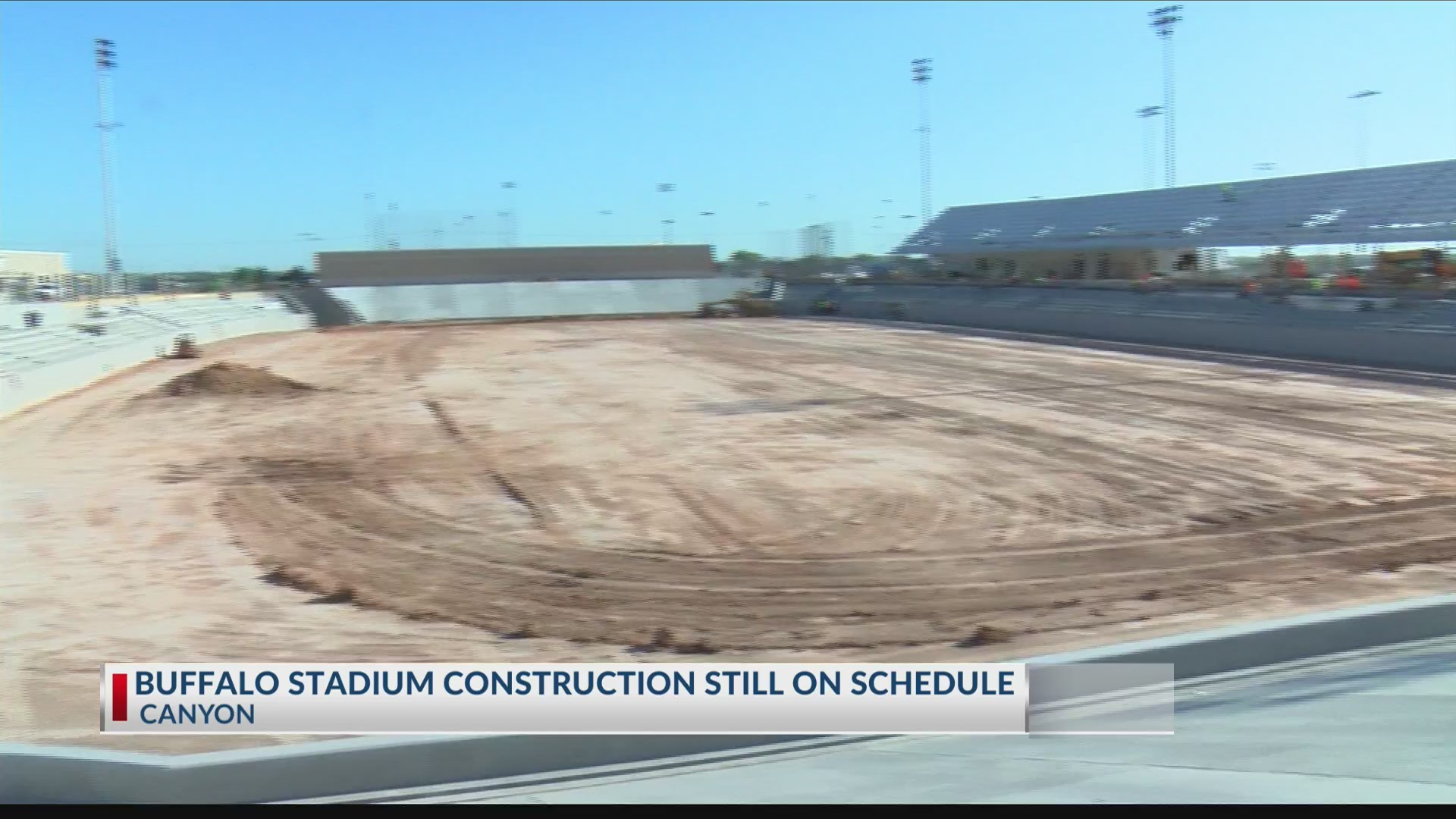 Buffalo Stadium coming together