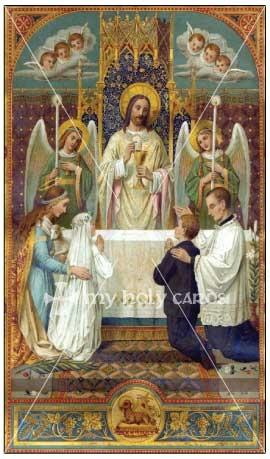 Blessed Sacrament Catholic Prayer Cards Funeral