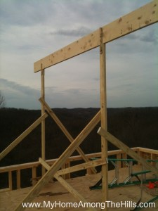 Ridge board to support rafters