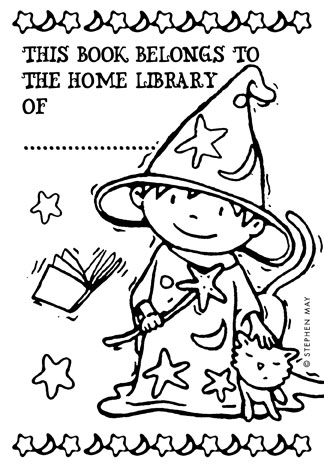 My Home Library: Stephen May's bookplate #4