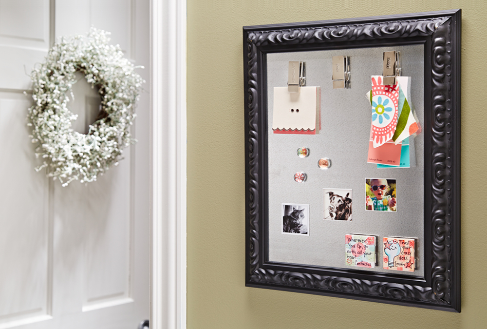 Make A Picture Frame Magnet Board My Home My Style