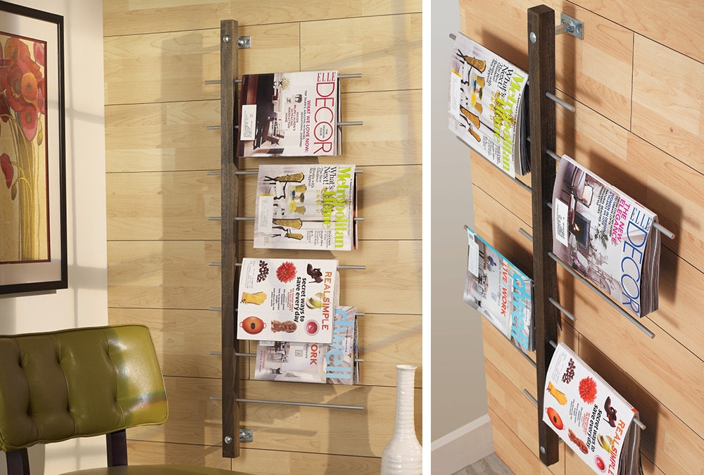 Wall Mounted Magazine Rack My Home My Style