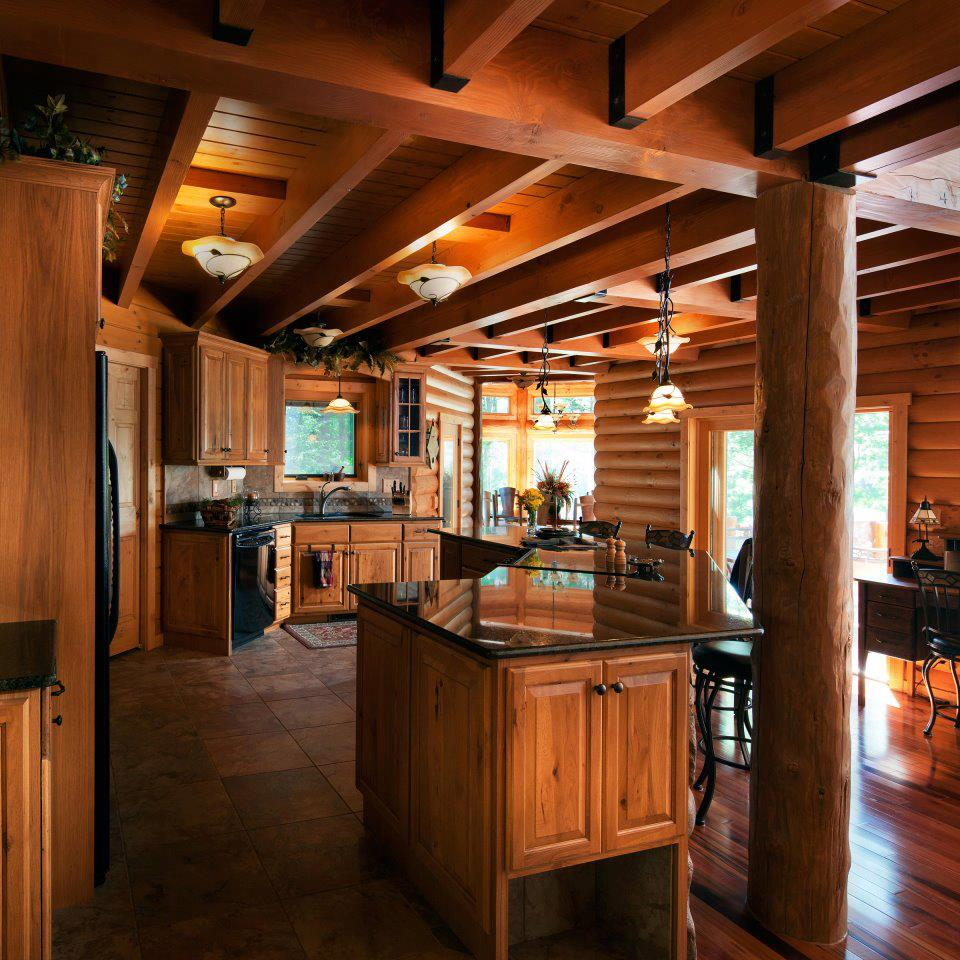 Get Warmth And Charm When Perfectly Designing Your Log Home Kitchen