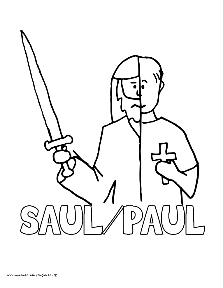 saul of tarsus coloring page