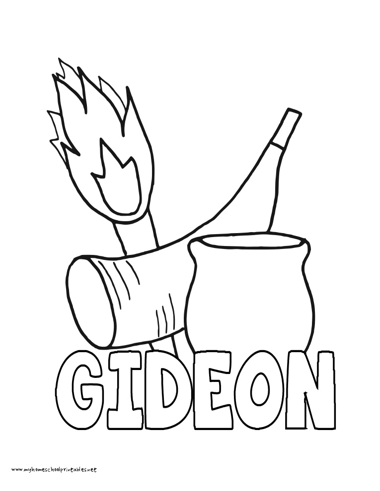 Gideon Fleece Coloring Page Coloring Pages