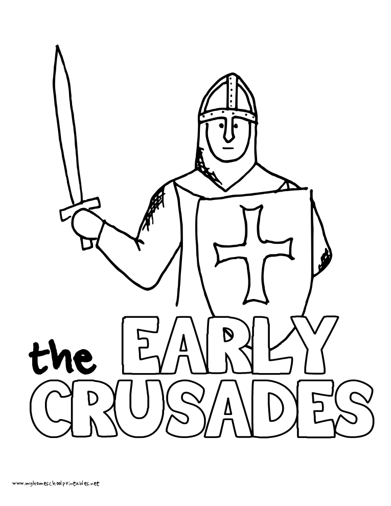 Free coloring pages of crusades