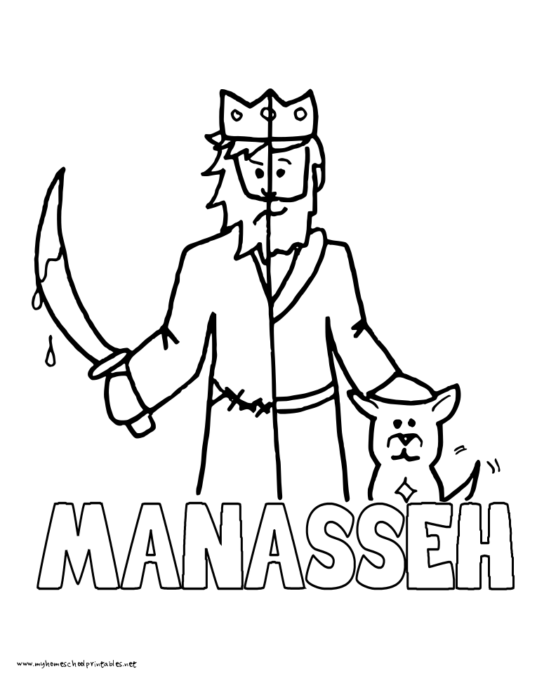Free coloring pages of manasseh