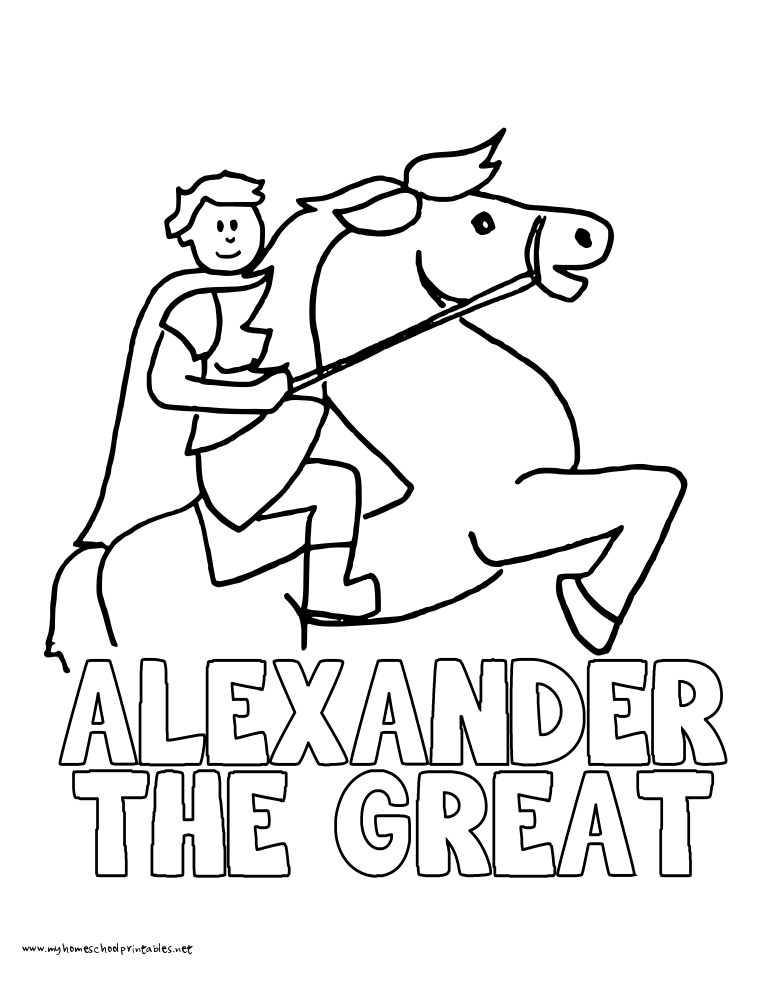 World History Coloring Pages Printables Alexander the