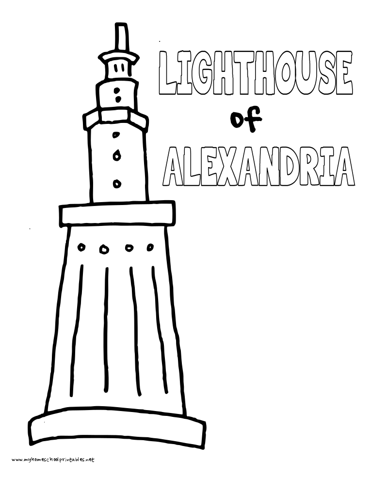 World History Coloring Pages Printables Lighthouse of