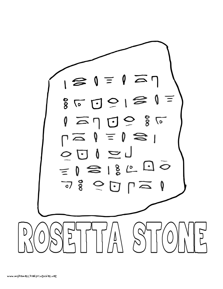 World History Coloring Pages Printables Rosetta Stone