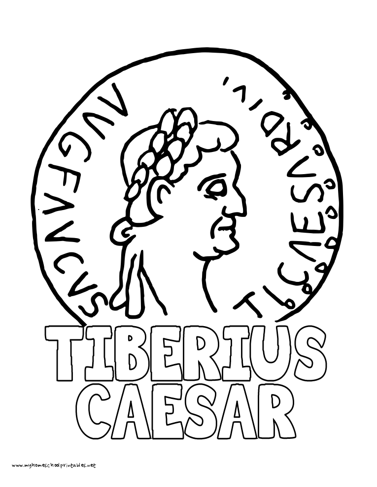 World History Coloring Pages Printables Tiberius