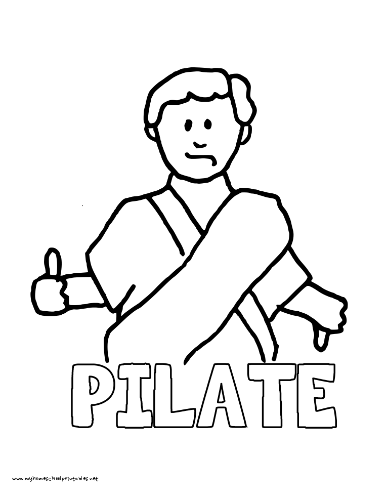 World History Coloring Pages Printables Pilate