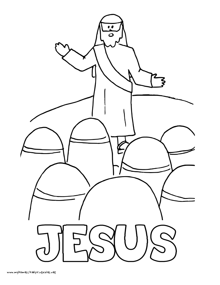 World History Coloring Pages Printables Jesus Teaching