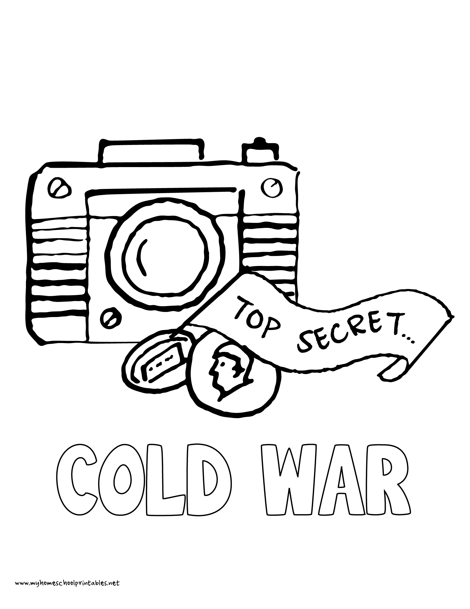Spy Equipment Pages Coloring Pages