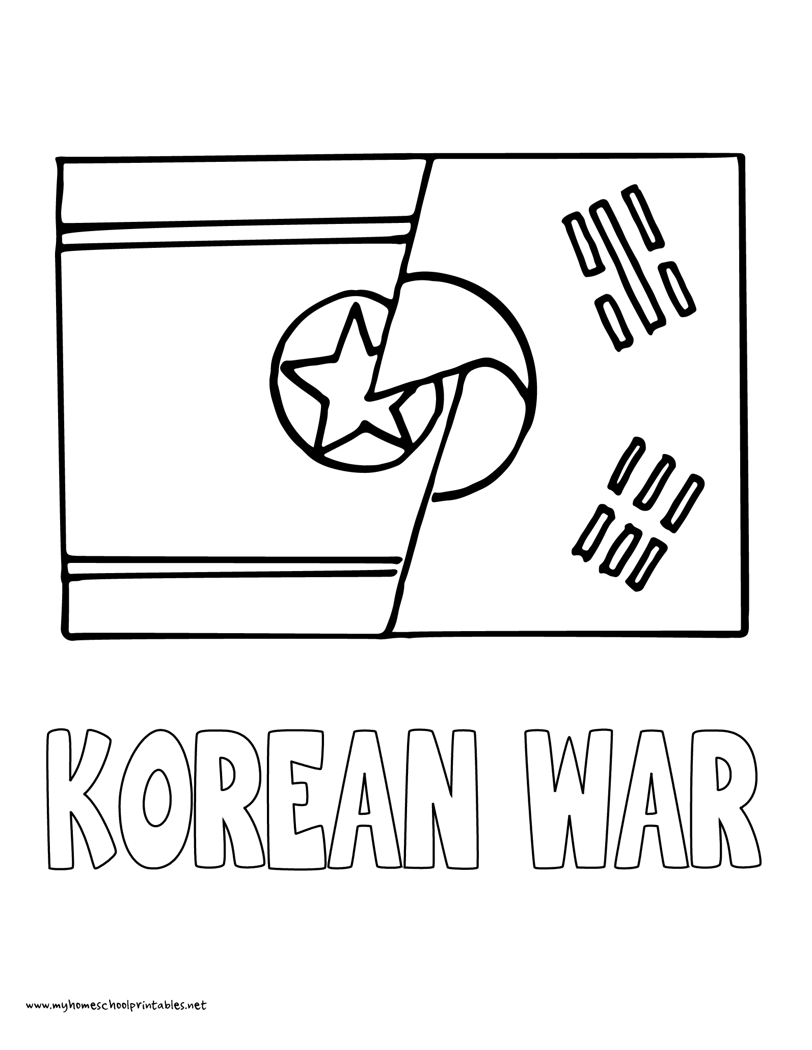 South Korea Map Coloring Page