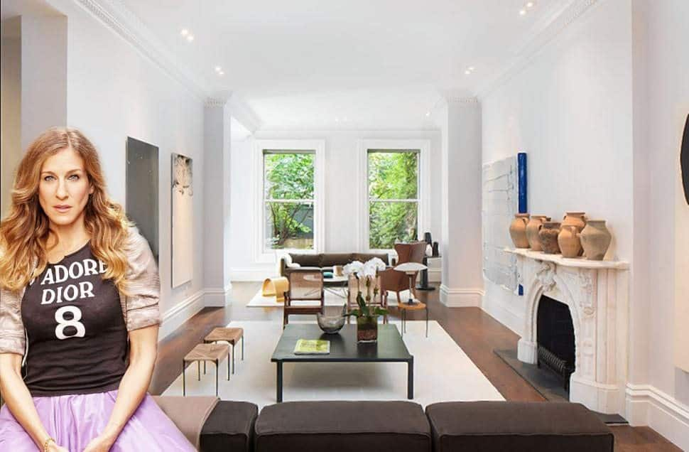 do it yourself kitchen countertops island with folding leaf celebrity homes nyc: sarah jessica parker