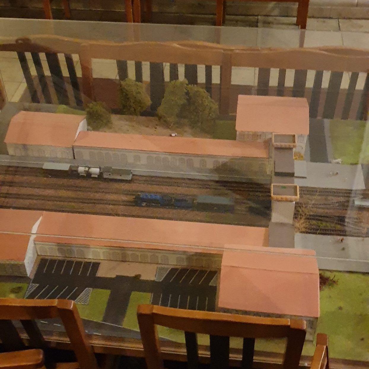 Modell des Bahnhofs