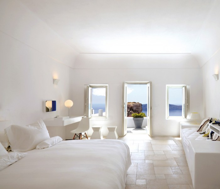 Greek Interior Design Selection Of Style For Bedrooms Grace Hotel Santorini 0