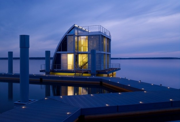 Floating Home in the Lusatian Lake District, Germany