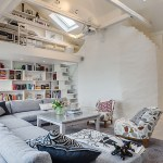 Attic apartment in Stockholm.