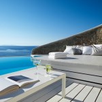 Lounge area with infinity pool.