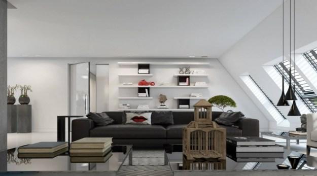 apartment in dusseldorf by ando studio myhouseidea. Black Bedroom Furniture Sets. Home Design Ideas