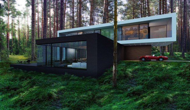 House in the woods by AlexanderZhidkov