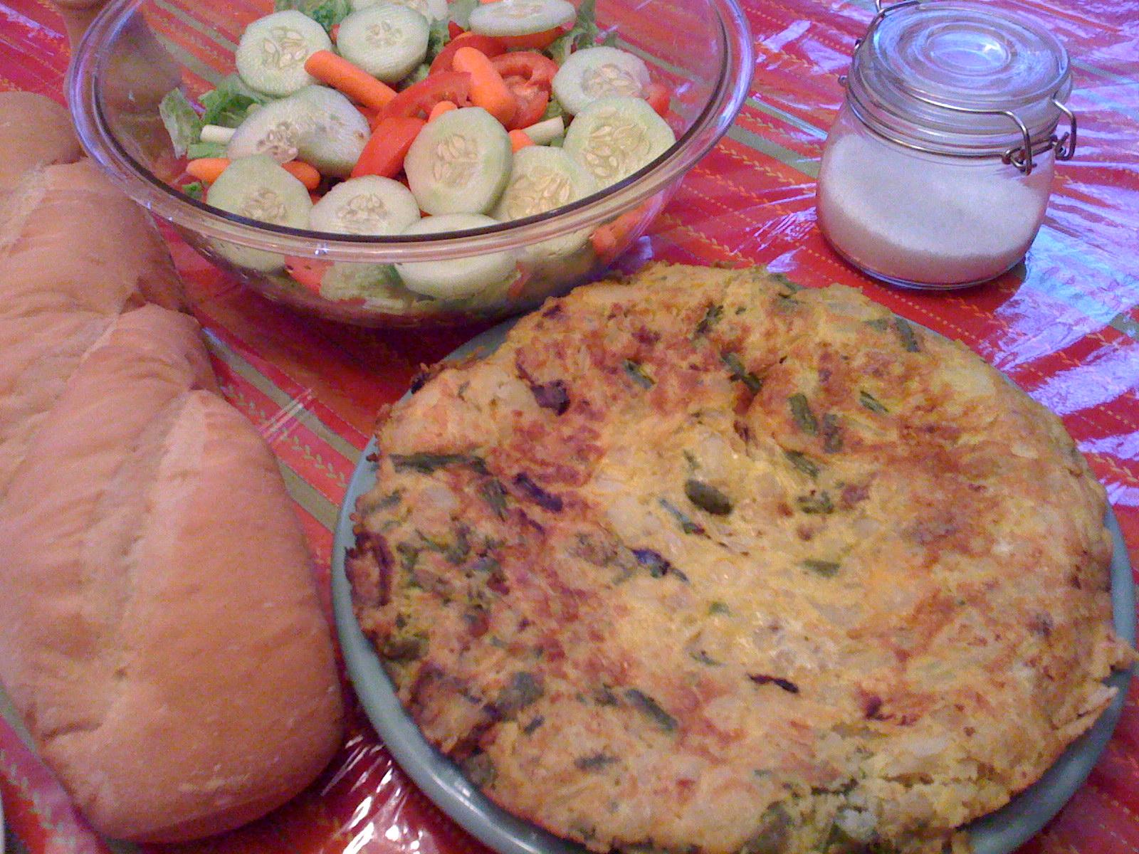 Monday's with Mami - Tortilla Espanola con Esparrago