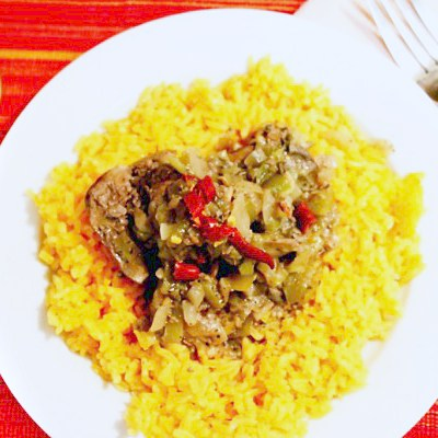 An Odd Bits Recipe: Chicken Livers in a Spicy Tomatillo Sauce