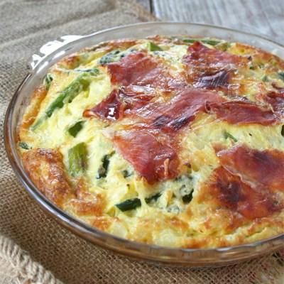 A Spring Quiche Recipe: An Asparagus and Prosciutto Self Crusting Quiche