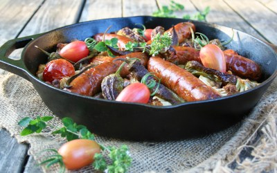 From Garden To Table: Roasted Balsamic Vegetables with Chicken Sausage