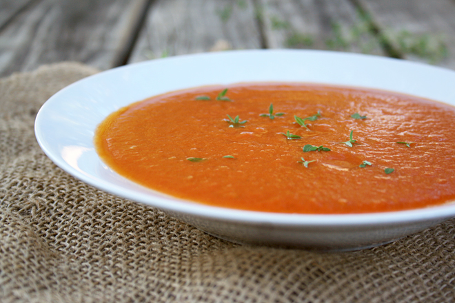 Warm Yourself with a Bowl of Homemade Tomato Soup