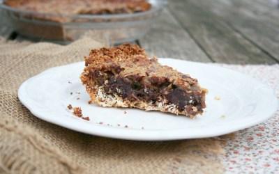 German Chocolate Pecan Pie in a Coconut Crust – A Gluten Free Recipe