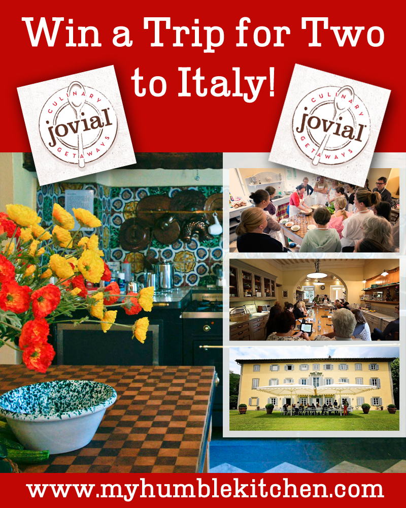 Win A Trip to Italy with Jovial | myhumblekitchen.com