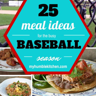 25 Meal Ideas for the Busy Baseball Season + Chicken Fried Rice Recipe in the Crockpot! | myhumblekitchen.com
