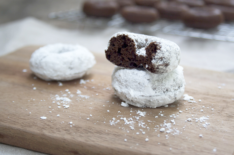 Chocolate Baked Einkorn Doughnuts at Home Plus Homemade Sprinkles Too!
