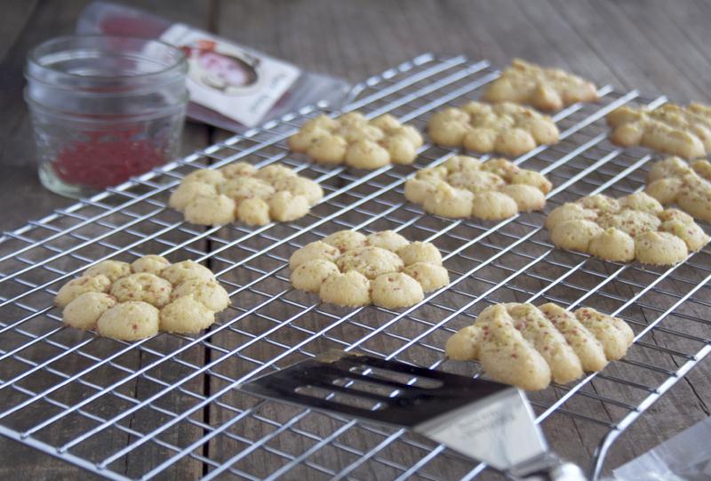 Honey Sweetened, Einkorn Spritz Cookies | myhumblekitchen.com