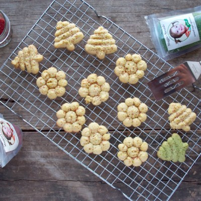 Honey Sweetened, Einkorn Spritz Cookies and Giveaway!