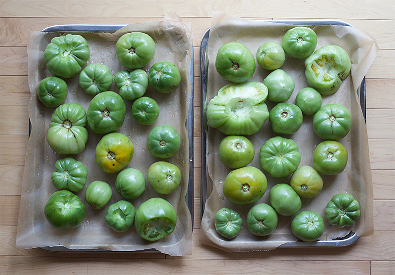 Salsa Verde made from Green Tomatoes