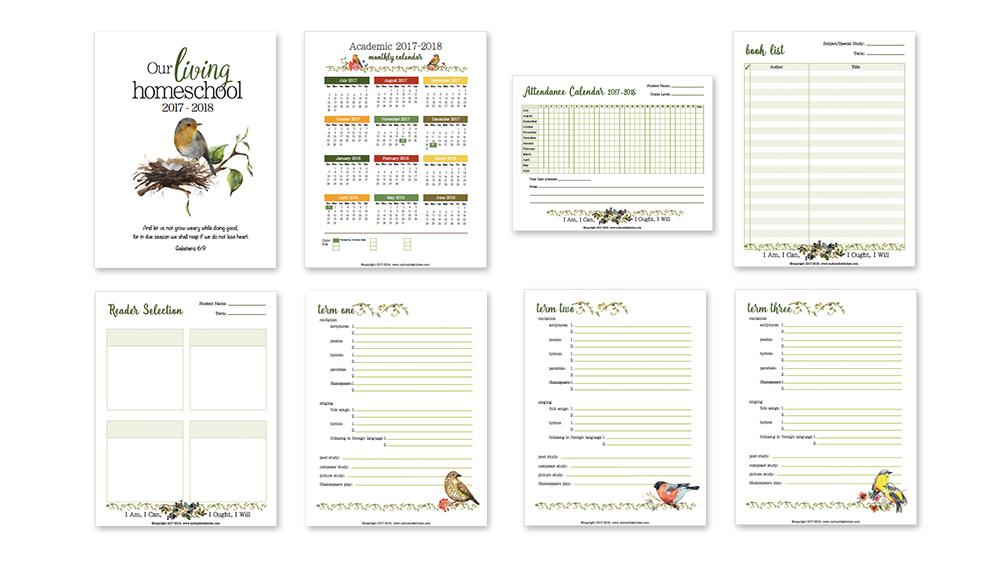 A Charlotte Mason Homeschool Planner PLUS Free Version!