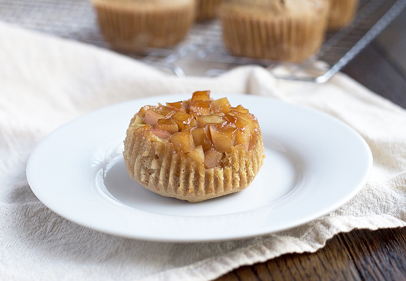 Einkorn Apple Upside-Down Muffins