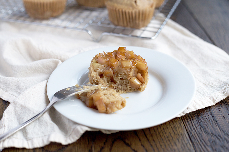Apple Upside-Down Muffins, Einkorn and Naturally Sweetened | muhumblekitchen.com