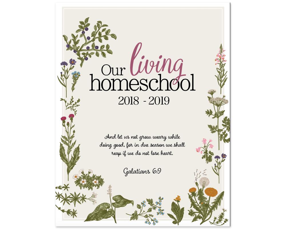 2018-2019, Charlotte Mason Homeschool Planner | myhumblekitchen.com